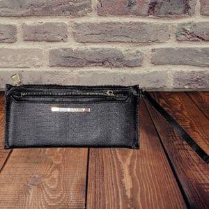 Women's Wallet Steve Madden black Shimmer Wristlet